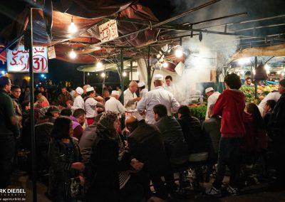 Essen auf dem Djemaa el Fna